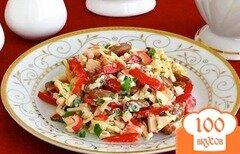 Фото рецепта: «Крабовый салат с зеленым луком»