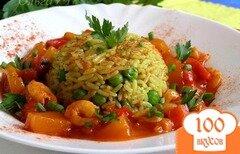 Фото рецепта: «Креветки в кисло-сладком соусе с рисом по-восточному»