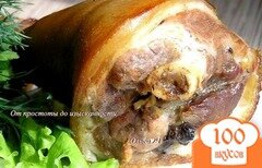 Фото рецепта: «Запеченная свиная рулька»