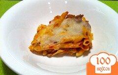 Фото рецепта: «Паста с сыром и мясом»