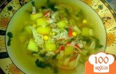 Фото рецепта: «Суп с крабовыми палочками»