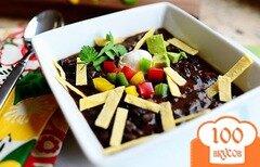 Фото рецепта: «Суп из черной фасоли и овощей»