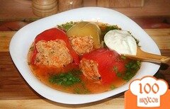Фото рецепта: «Фаршированный перец диетический»