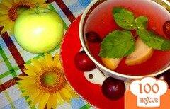 Фото рецепта: «Компот из красной алычи, яблок и специй»