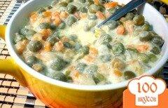 Фото рецепта: «Зелёный горошек с морковью в соусе»