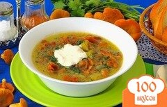 Фото рецепта: «Суп грибной из лисичек»