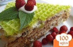Фото рецепта: «Вафельный торт без выпечки»