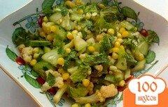 """Фото рецепта: «Салат с цветной капустой """"Зеленый""""»"""