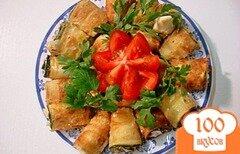 Фото рецепта: «Рулетики из цукини со сливочным сыром»