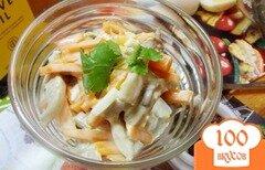 Фото рецепта: «Салат с вареными вешанками»
