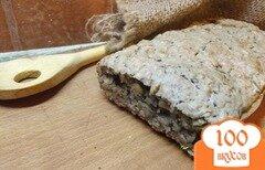 Фото рецепта: «Овсяный хлеб с базиликом на соде»