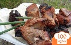 Фото рецепта: «Шашлык из свиной лопатки вымоченный»