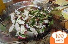 Фото рецепта: «Салат куриный с теплой заправкой»