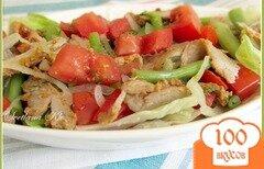 Фото рецепта: «Салат с мясом и стручковой фасолью»