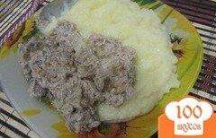 Фото рецепта: «Куриные сердечки в сметаном соусе»