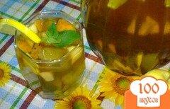 Фото рецепта: «Холодный чай с ромашкой и яблоком»