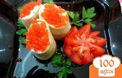 Фото рецепта: «Блинчики с красной икрой»