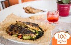 Фото рецепта: «Терпуг, запеченный с молодыми кабачками»