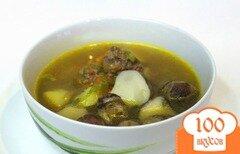 Фото рецепта: «Суп грибной с фрикадельками»