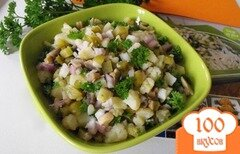 Фото рецепта: «Салат из маслят и картошки»