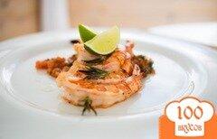 Фото рецепта: «Тигровые креветки-гриль с томатной сальсой»