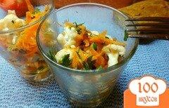 Фото рецепта: «Салат из сырой цветной капусты с морковью и уксусом»