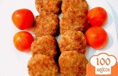 Фото рецепта: «Биточки с овощами и рисом»