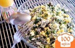 Фото рецепта: «Салат из морской капусты и кальмара»
