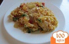 Фото рецепта: «Макароны с овощами под сырной шубкой»
