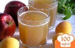 Фото рецепта: «Яблочно-нектариновый морс с мятным сиропом»