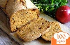 Фото рецепта: «Томатный хлеб с маслинами и овсяными отрубями»