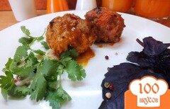Фото рецепта: «Тефтели тушеные в базиликово-томатной подливе»