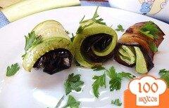 Фото рецепта: «Дуэт из запеченных синих и кабачков»
