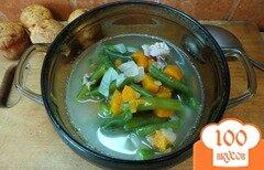 Фото рецепта: «Индюшиный суп со спаржевой фасолью»