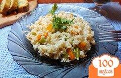 Фото рецепта: «Неочищенный рис со спаржевой фасолью и морковью»