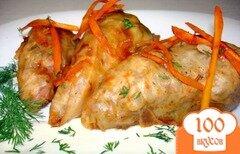 Фото рецепта: «Голубцы с куриным мясом и грибами»