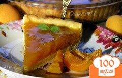 Фото рецепта: «Творожный тарт с абрикосово-апельсиновым желе»