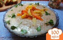 Фото рецепта: «Пшеничная каша по-болгарски с печеным болгарским перцем»
