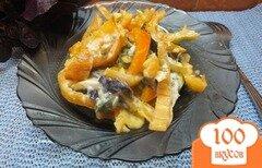 Фото рецепта: «Салат из желтых микадо и болгарского перца»