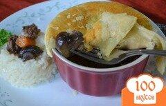 Фото рецепта: «Мясной пирог с грибами в горшочках»