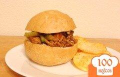 Фото рецепта: «Сендвич с индейкой и приправами»