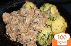 Фото рецепта: «Маслята, тушеные с картофелем»