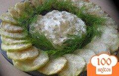 Фото рецепта: «Кабачки с чесночным соусом в пармезане»