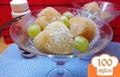 Фото рецепта: «Белый щербет трио: груша, яблоко, виноград»