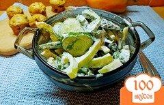 Фото рецепта: «Салат огуречный с фенхелем»