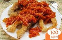 Фото рецепта: «Карп жареный под луково-томатным соусом»