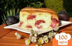 "Фото рецепта: «Сливовый пирог ""Не во вред фигуре""»"