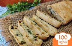 Фото рецепта: «Закусочный хлеб с зеленью на воде»