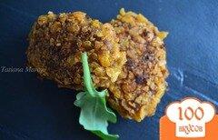 Фото рецепта: «Котлетки с тыквой и сырной начинкой»