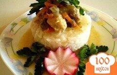 Фото рецепта: «Свинина с овощами на рисовой подушке»